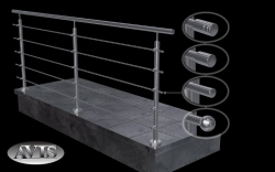 Railing System mod. SABRE 260 stainless steel AISI 304
