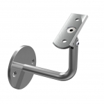 Handrail bracket adjustable for tube Ø 42,4mm, stainless steel AISI 304 satined