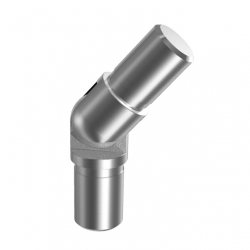 Adjustable flush angle, 16 x1,0 mm (-90°...+90°), stainless steel AISI 304 satined