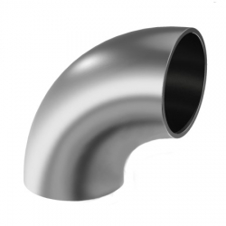 Welding elbow 90°, for tube Ø 42,4mmx2mm, stainless steel AISI 304 satined