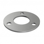 Plate, Ø100 x 4mm for tube Ø 42,4mm, with 3 holes stainless steel AISI 304 satined