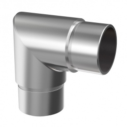 Flush elbow 90° for tube 42,4 x 2,0 mm, stainless steel AISI 304 satined