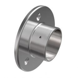 Wall flange, 42,4mm, stainless steel AISI 304 satined
