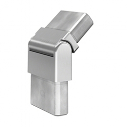 60x20x2 handrail articulated connector, 0 mm, with adjustable angles of from 0 ° to 70 °