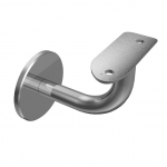 Handrail bracket, wall to tube Ø 42,4mm, stainless steel AISI 304 satined