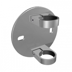 Side fix baluster bracket, 42,4 mm, stainless steel AISI 304 satined