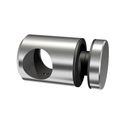 Glass adapter for tube Ø 16,0mm, glass 6-12mm, stainless steel AISI 304 satined