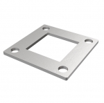 The mounting plate 100 x 100 x 4 mm for post 50 x 50 mm, stainless steel AISI 304, raw