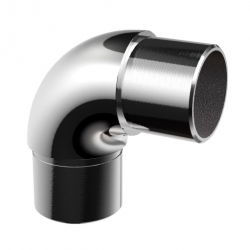 Flush elbow 90° for tube Ø42,4 x 2,0 mm, stainless steel AISI 304 mirror polished