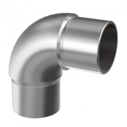 Flush elbow 90° for tube Ø42,4 x 2,0 mm, stainless steel AISI 304 satined