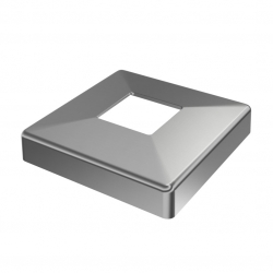 Base cover, square 108x108 mm, for tube 40x40mm, stainless steel AISI 304 satined